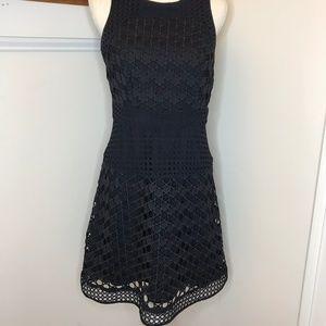 Ann Taylor Black Fit & Flare Dress Size 4